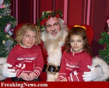 Guess the celebrity dressed as santa claus