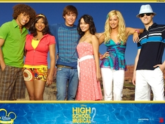 What's the colour of the Wildcats basketball team in HSM series?