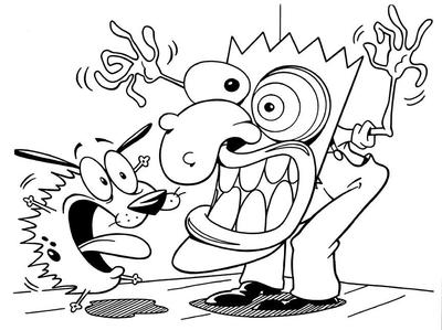 courage the cowardly dog coloring pages | Cartoon Quiz: Questions