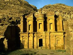 Which structure was carved into the sandstone hill by the Nabataeans in the second century A.D ?