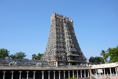 The famous Meenakshi temple is located in