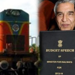 ... from Congress to present the Railway Budget for 2013-14 on 26 Feb