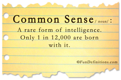 Common sense quiz