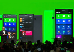 Which is Nokia's 1st device to run on Android OS that was unveiled at  Mobile World Congress 2014?