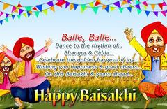 Baisakhi usually falls on