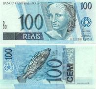 Speaking of the Brazilian 10 Real bill, what color is it?